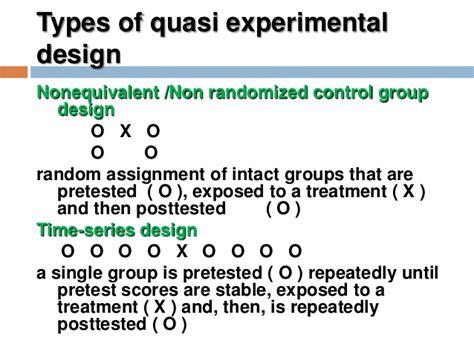 quasi experimental design experimental design