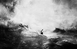 Wallpaper Black And White Sea Wave People Images For