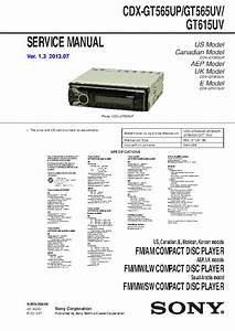 Sony Cdx Gt270mp Wiring Diagram