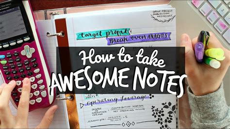 How To Take Awesome Notes! Creative Notetaking Hacks