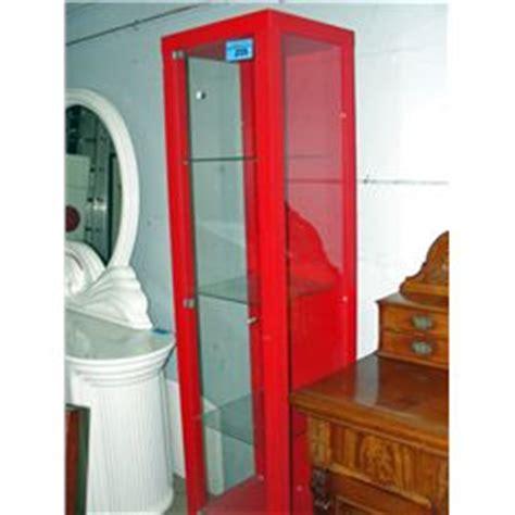red ikea curio cabinet