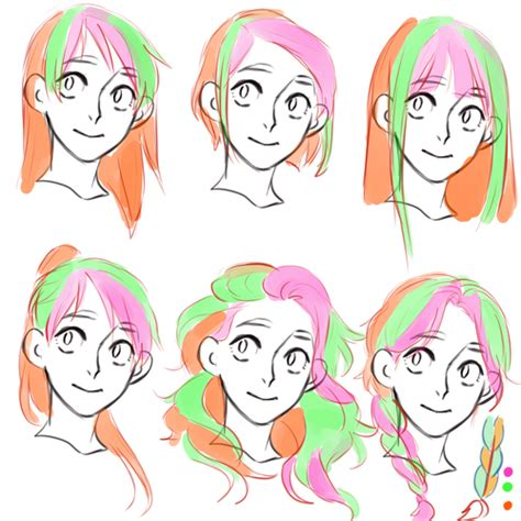 hair tutorial     draw hair drawings