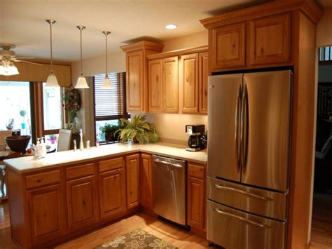 small kitchen paint colors with oak cabinets idea home oak wooden kitchen cabinet for small kitchen remodeling