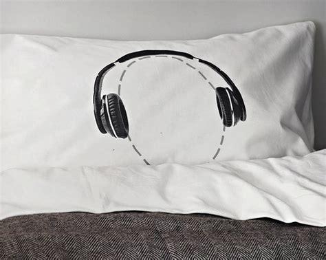 Headphones Head Case Pillowcase