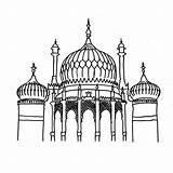 Brighton Pavilion Colouring Sheets Sheet Landmarks Printable Coloring Buildings sketch template