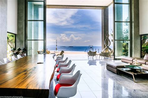 House By The Sea  View Of Living Room, Infinity Pool, And