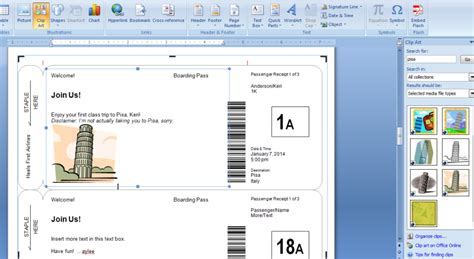 free boarding pass template microsoft boarding passes as gifts le chic