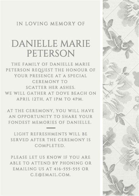 funeral invitation examples templates  design