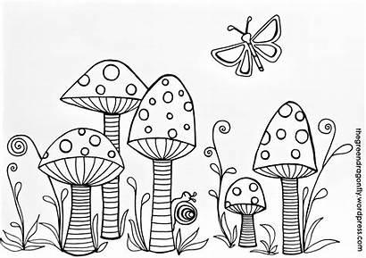 Coloring Toadstool Mushrooms Gnome Ausmalbilder Pilze Toadstools