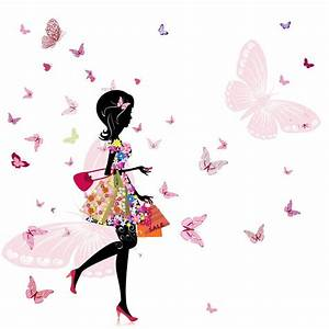 Papier Peint Petite Fille : tableaux papier peint decoratif petite fille papillons ~ Dailycaller-alerts.com Idées de Décoration