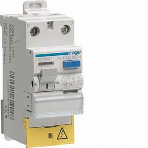 Interrupteur Differentiel Hager 63a Type Ac : interrupteur diff rentiel hager 63a 500 ma 1 p le ne ~ Edinachiropracticcenter.com Idées de Décoration