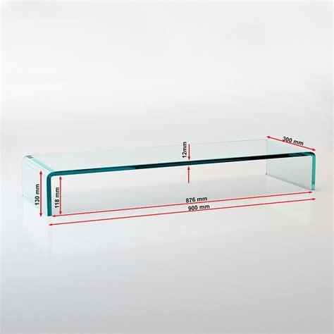 tv tisch glas tv glasaufsatz 90cm breit glastisch beistelltisch glas tv tft lcd aufsatz ebay