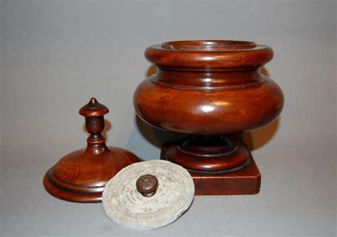century treen tobacco jar la loveantiquescom