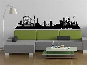 London Skyline Schwarz Weiß : wandtattoo london skyline mit wahrzeichen ~ Watch28wear.com Haus und Dekorationen