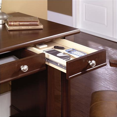 sauder palladia writing desk cherry palladia writing desk in select cherry finish 412115