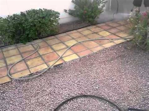 saltio tile patio floor clean up by pave cleaner
