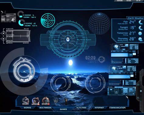 High Tech Animated Wallpaper - hi tech desktop rainmeter for all windows by takeshikawa