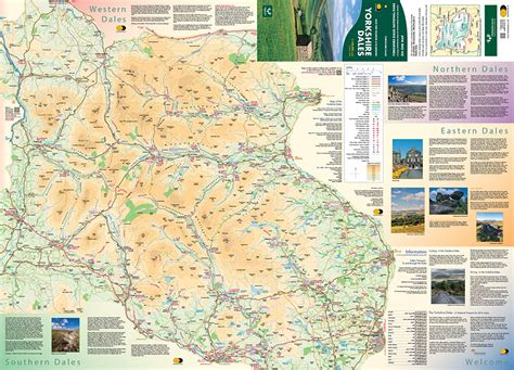 yorkshire dales visitor map