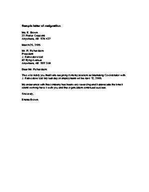 Resignation Letter Best 10 Resignation Letter For Personal Reasons Ideas Parting Company Sample