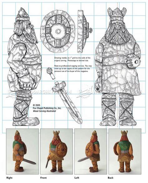 viking carving caricature woodarchivist
