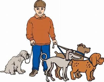 Dog Clipart Walker Walking Clip Walk Dogs