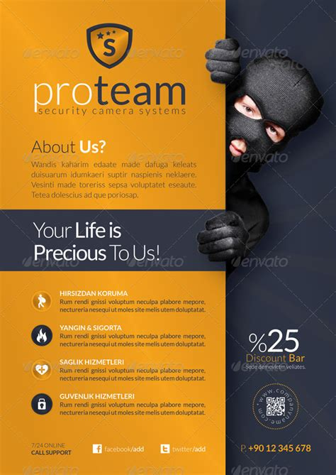 security systems flyer template  grafilker graphicriver