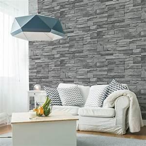 Mur Effet Brique : un mur gris effet brique en marbre leroy merlin ~ Melissatoandfro.com Idées de Décoration