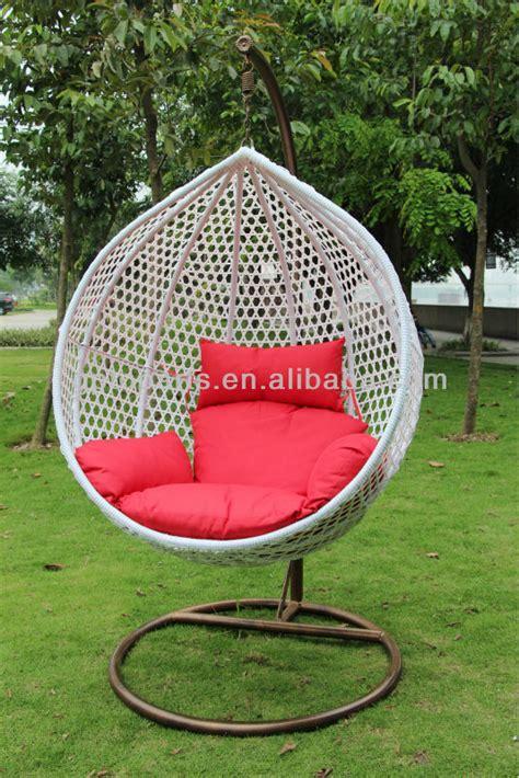 outdoor white rattan hanging egg chair sale garden