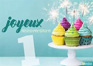1 An Anniversaire : carte anniversaire 1 an cupcakes multicolores et cierges magiques 123 cartes ~ Farleysfitness.com Idées de Décoration