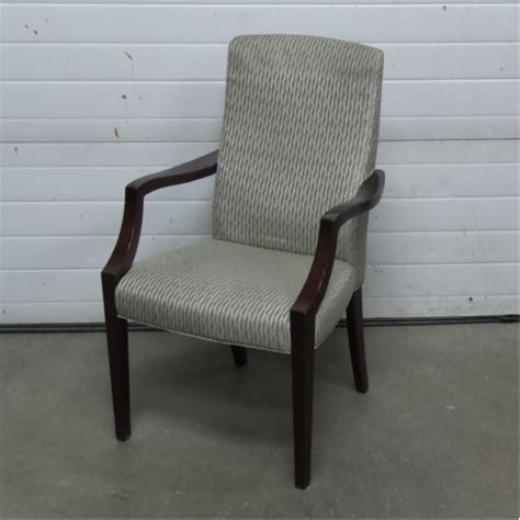 beige patterned high back guest side reception chair