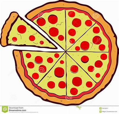 Pizza Vector Background Isolated Illustration