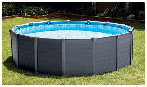 piscine intex graphite solde piscine hors sol intex graphite habillage pvc gris