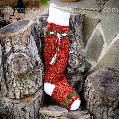 loom knit christmas stocking pattern extra long and thick