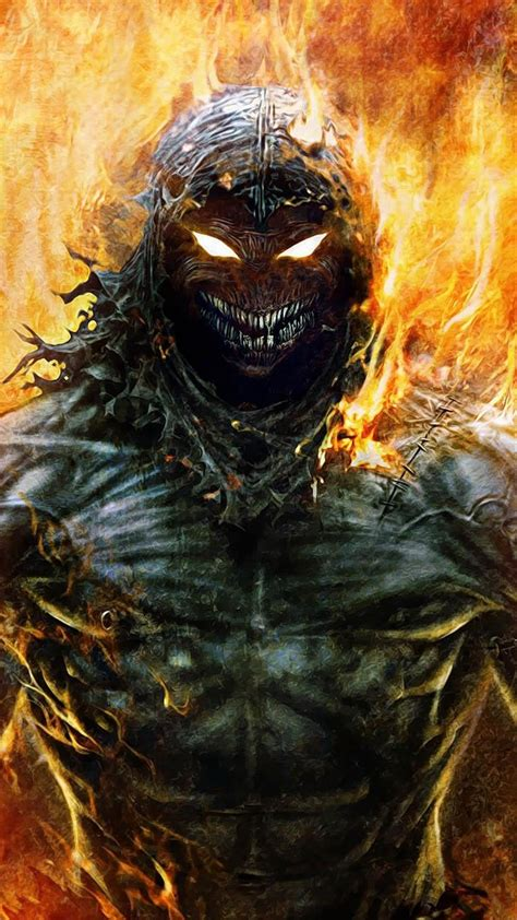 disturbed indestructible  guy demons flaming wallpaper