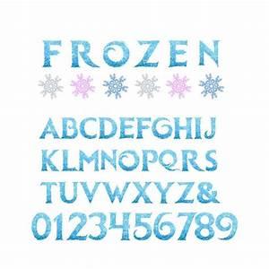 5'' Frozen Alphabet Clipart Printable Frozen Letters
