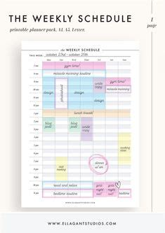 daily schedule template printable daily planner template