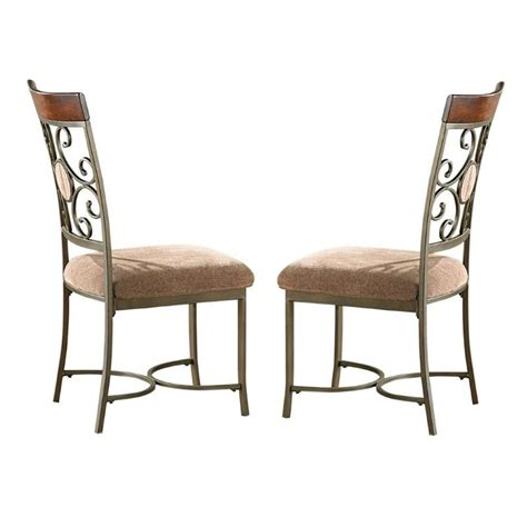 steve silver company thompson dining chair in metal and