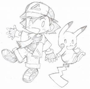 chibi ash and pikachu pokemon by Starrydays on DeviantArt