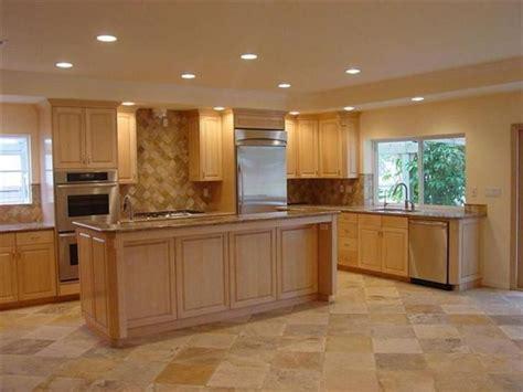 kitchen color schemes  maple cabinets maple kitchen