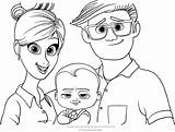 Boss Coloring Baby Pages Parents Portrait Tim Printable Dreamworks Cartoon Drawing Bestcoloringpagesforkids Puppy Brother Animation Getcolorings Forever Movie Books Pdf sketch template