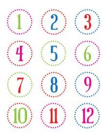 printable number countdown calendar template 2016