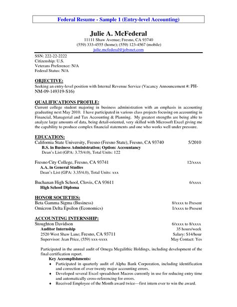 by resume objectives accounting resume objectives resume objective exles federal