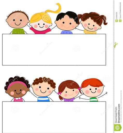 Group Of Kids And Banner Stock Vector Illustration Of. Airbrush Banners. Hate Lettering. Ain T Decals. Pogi Lettering. Caregivers Signs. American Logo. Creative Writing Lettering. Rope Signs Of Stroke