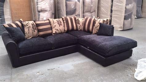 20 Choices Of Black Corner Sofas Sofa Ideas
