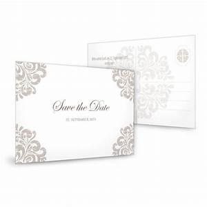 Save The Date Karte : elegante save the date karte mit barocken muster in taupe ~ A.2002-acura-tl-radio.info Haus und Dekorationen