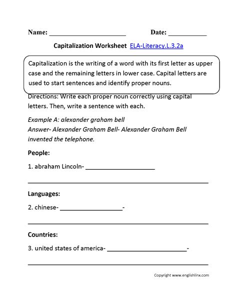 grade common core language worksheets