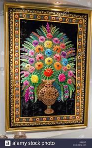 Arabic, Floral, Wall, Tapestry, Textile, Artwork, At, Miraj