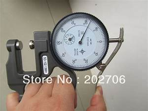 0 10x30mm Dial Thickness Gauge Leather Thickness Tester