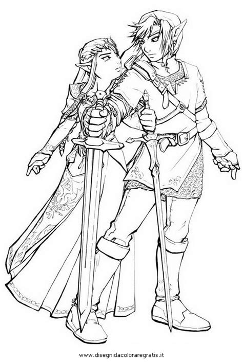 sword disegni da colorare disegno zelda 28 personaggio cartone animato da colorare