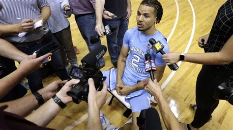 freshman cole anthony embraces tar heels point guard